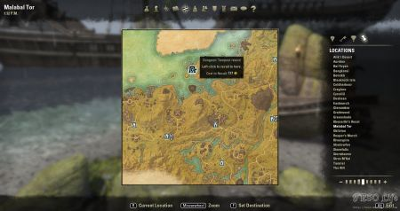 eso how to get to malabal tor from gold coast