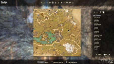 Eso The Rift Skyshards Location Map Eso Life