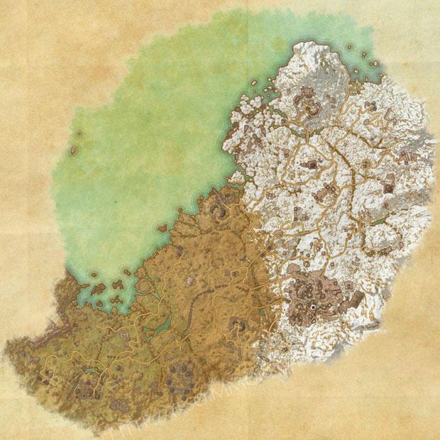 ESO Wrothgar Skyshards Location Map - ESO Life