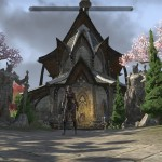 elven architecture with my archer in front