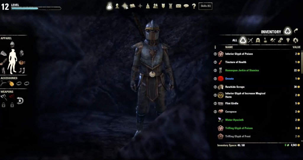 skyrim equipment slots