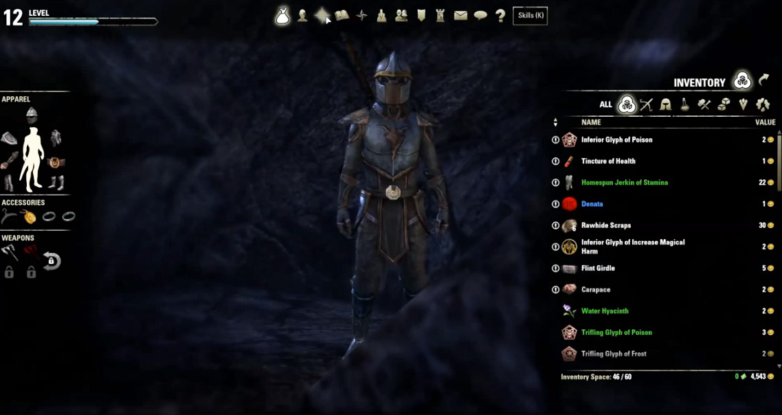 teso increase inventory space