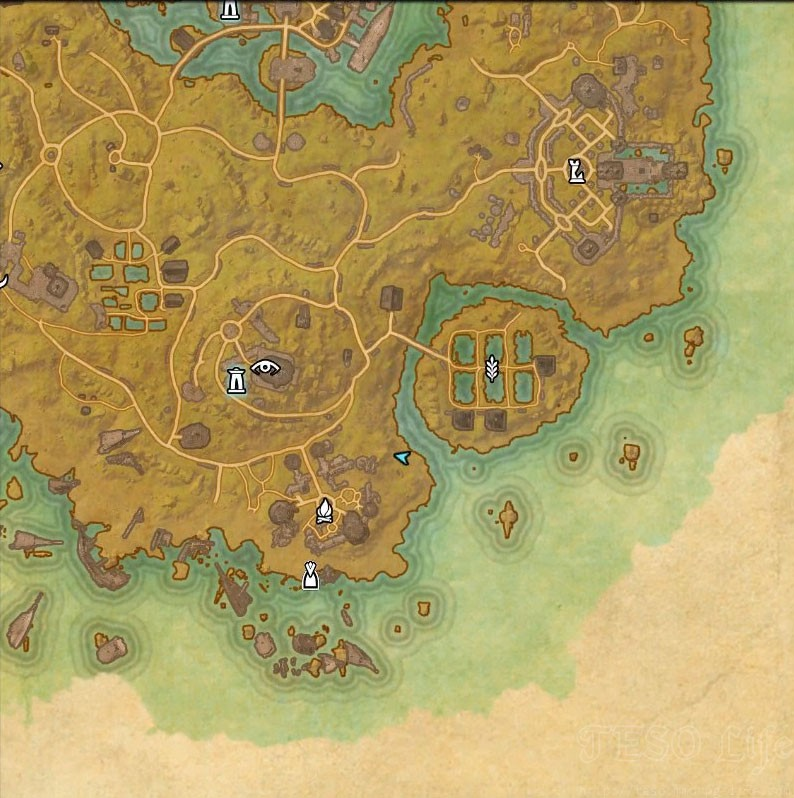 Khenarthi's Roost Treasure Map I location