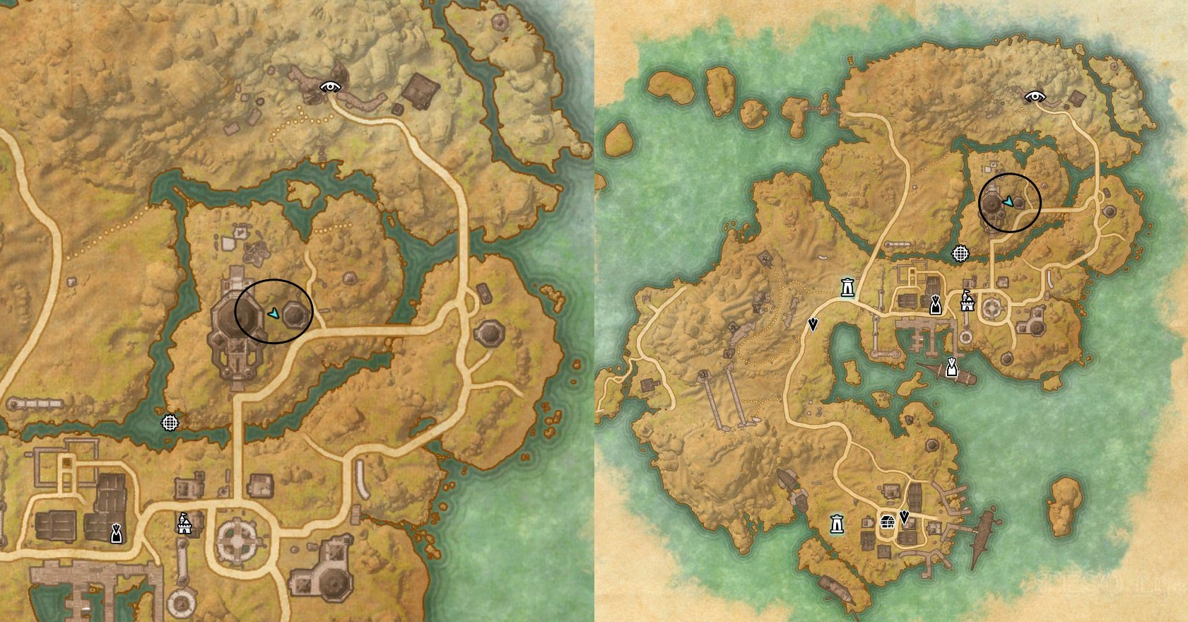 Stros M Kai CE Treasure Map location