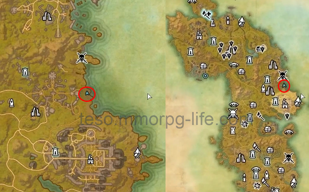 auridon treasure map 4 loc
