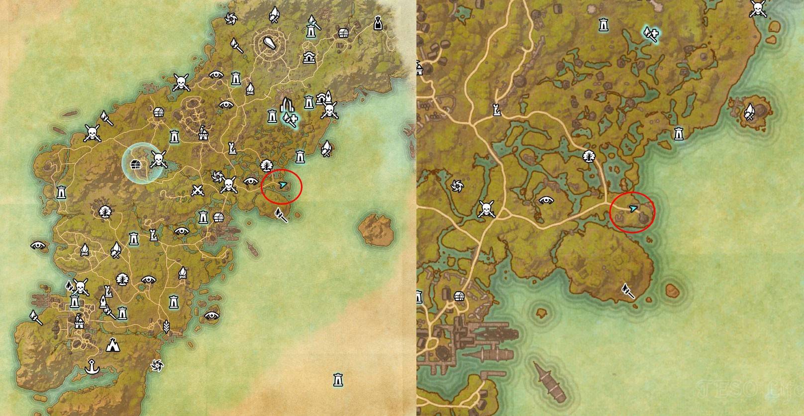 eso Glenumbra CE Treasure Map digging location