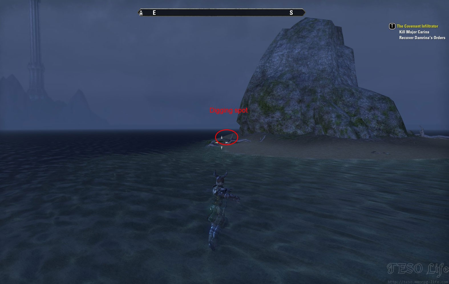eso Glenumbra Treasure Map IV digging spot