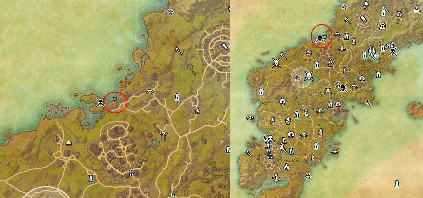 eso Glenumbra Treasure Map VI location