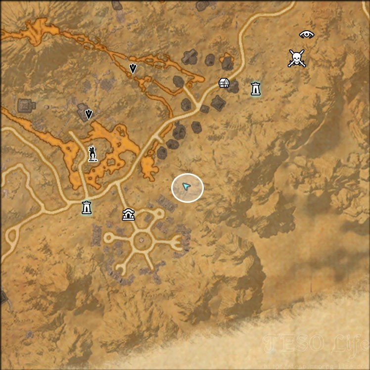eso stonefalls treasure map I location