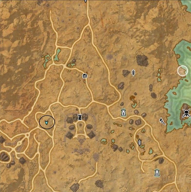 eso Stonefalls Treasure Map IV location