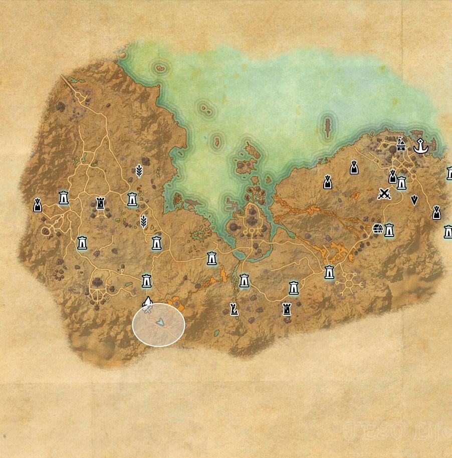 Stonefalls Treasure Map VI world location