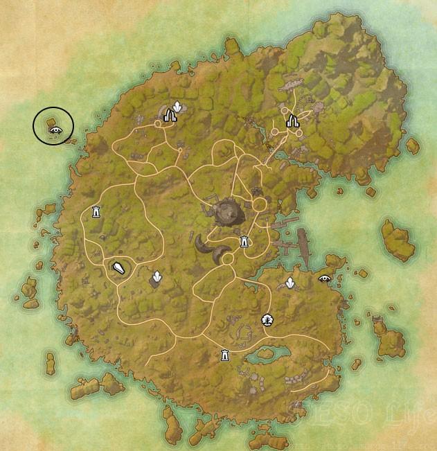 eso betnikh treasure map I location