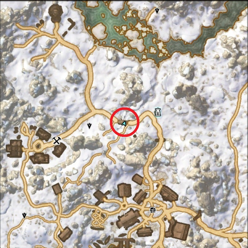 Map Location of Hidden Treasure of Treasure Map I