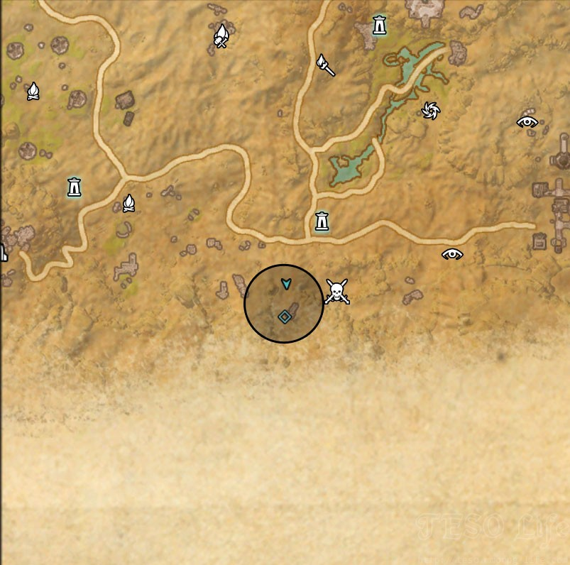 Alik'r Desert Treasure Map I location
