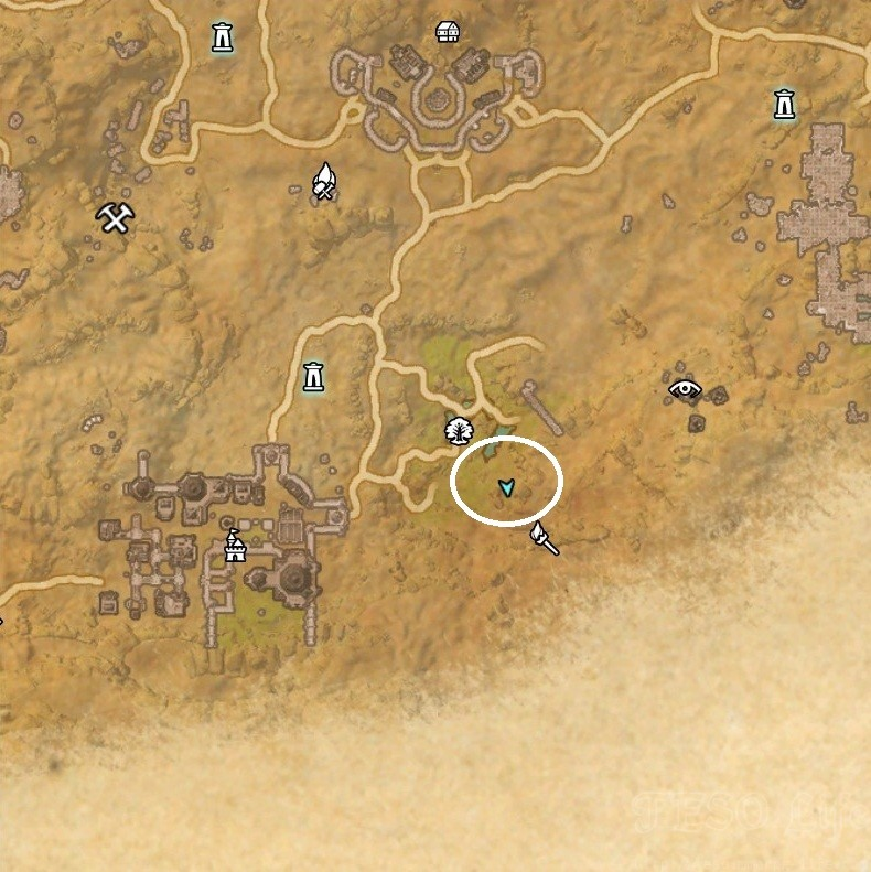Alik'r Desert Treasure Map III Dig Location