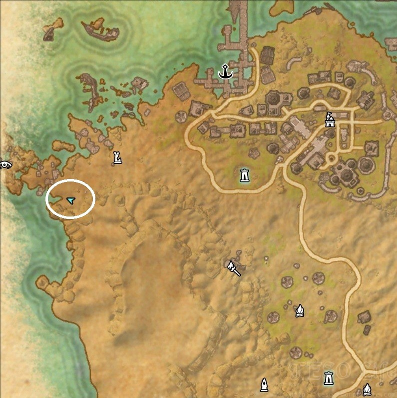 Alik'r Desert Treasure Map II Dig Location