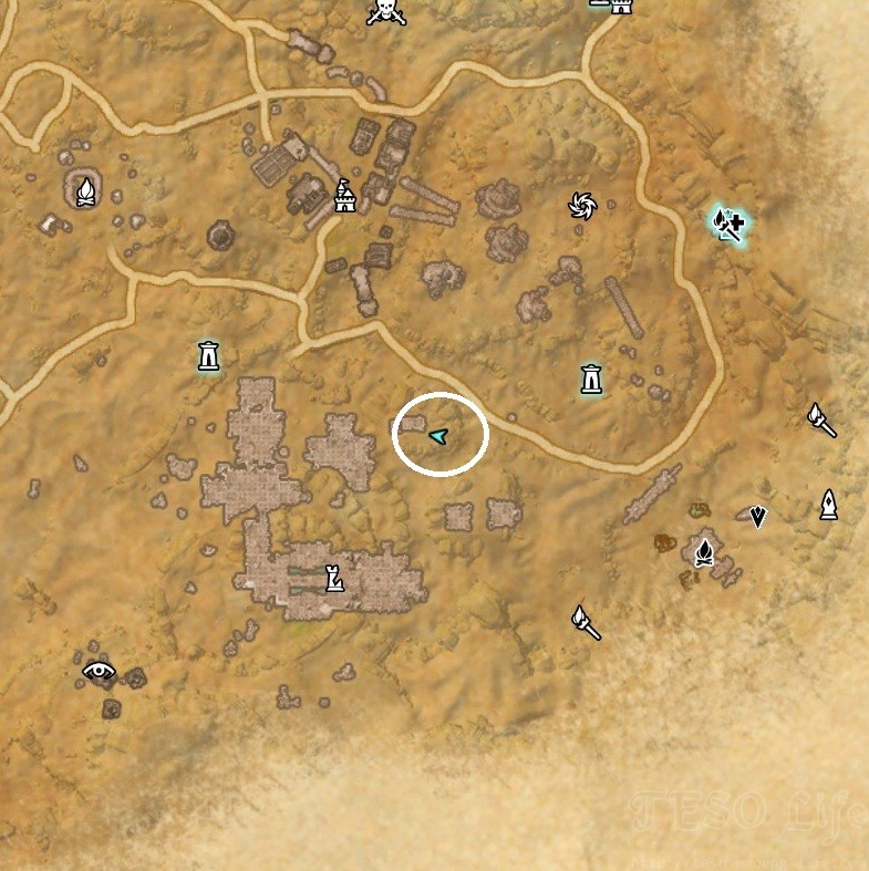 Alik'r Desert Treasure Map V Dig Location