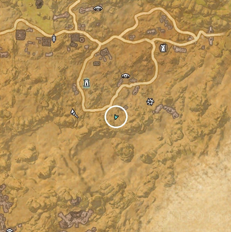 Bangkorai Treasure CE Map Dig Location