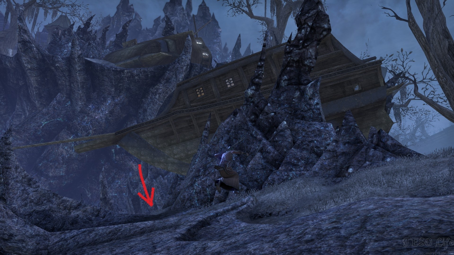 Coldharbour Treasure CE Map Dirt Mound Loc