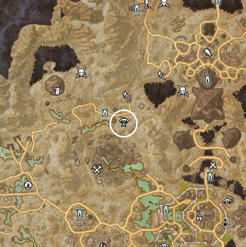 Coldharbour Treasure Map II Dig Location