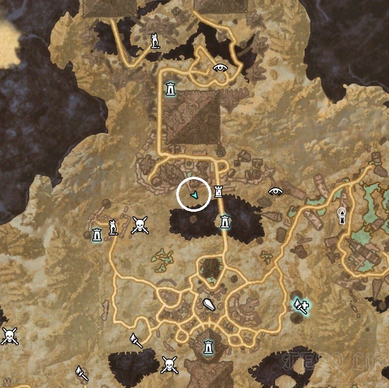 Coldharbour Treasure Map VI Dig Location
