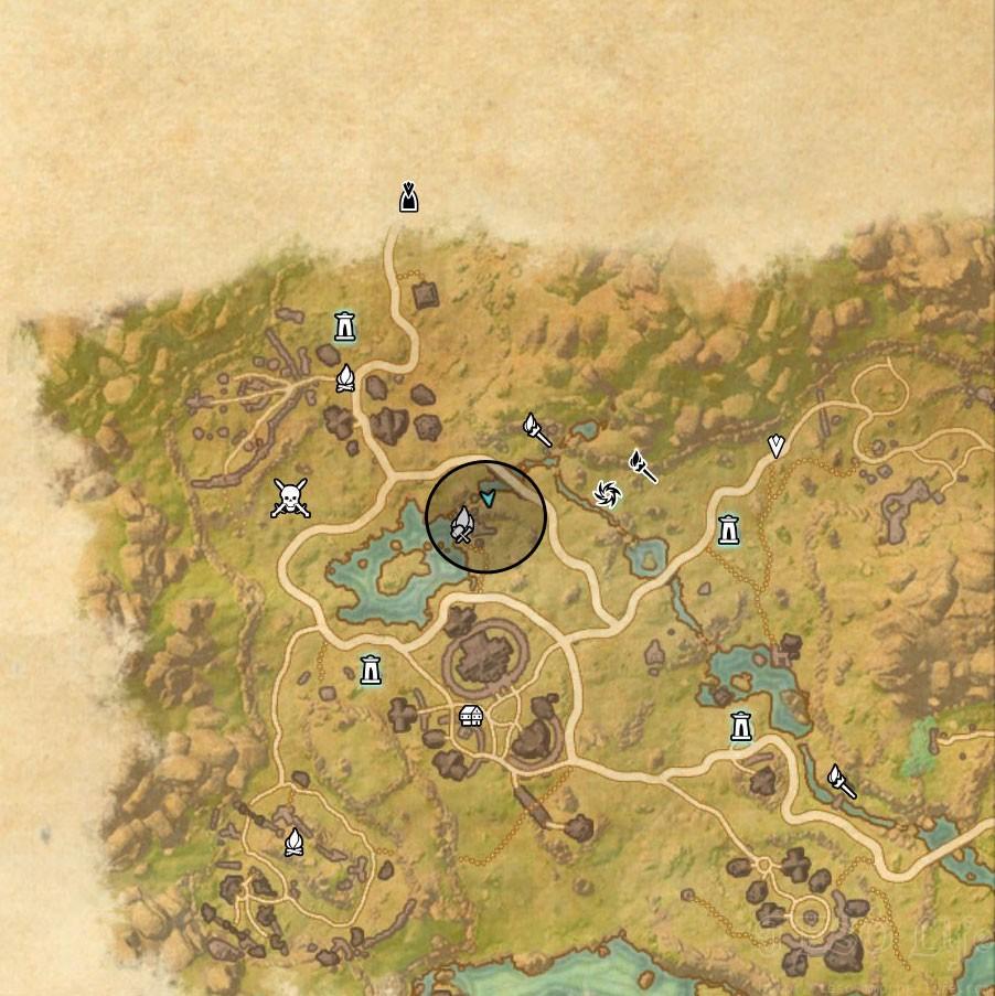 Deshaan Treasure Map II location
