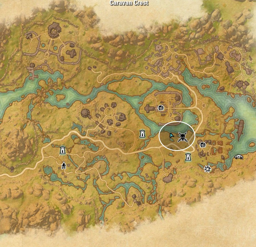Deshaan Treasure Map VI location