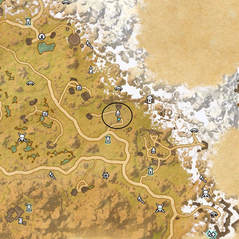 Eastmarch Treasure Map VI location