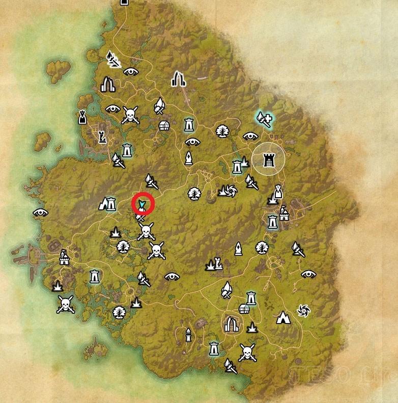 Greenshade Treasure Map III world location