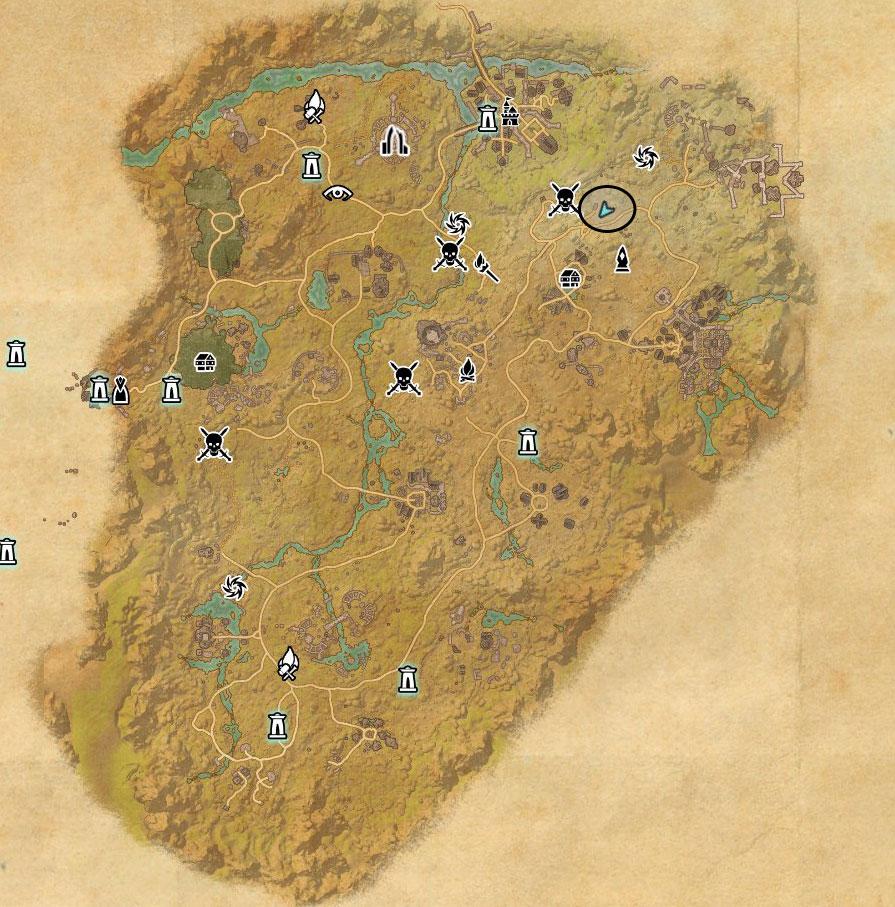 Reaper's March Treasure Map VI world location