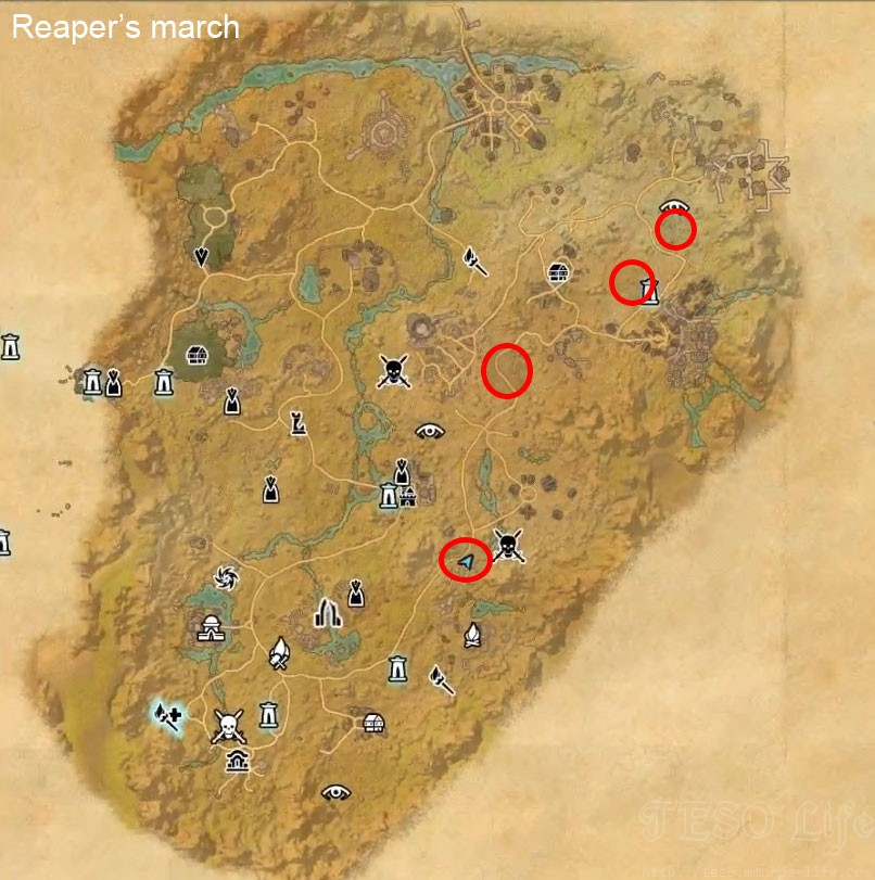 eso Reaper's March vampire spawn locations