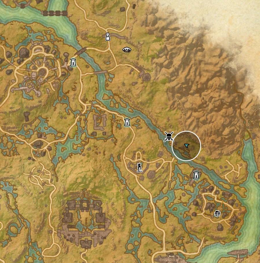 Shadowfen Treasure Map II location