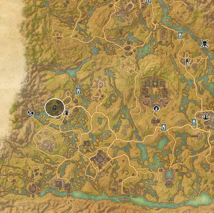 Shadowfen Treasure Map VI location