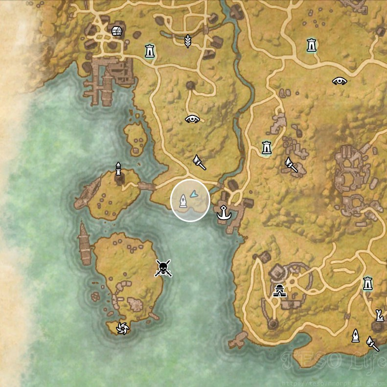 Stormhaven Treasure Map I location