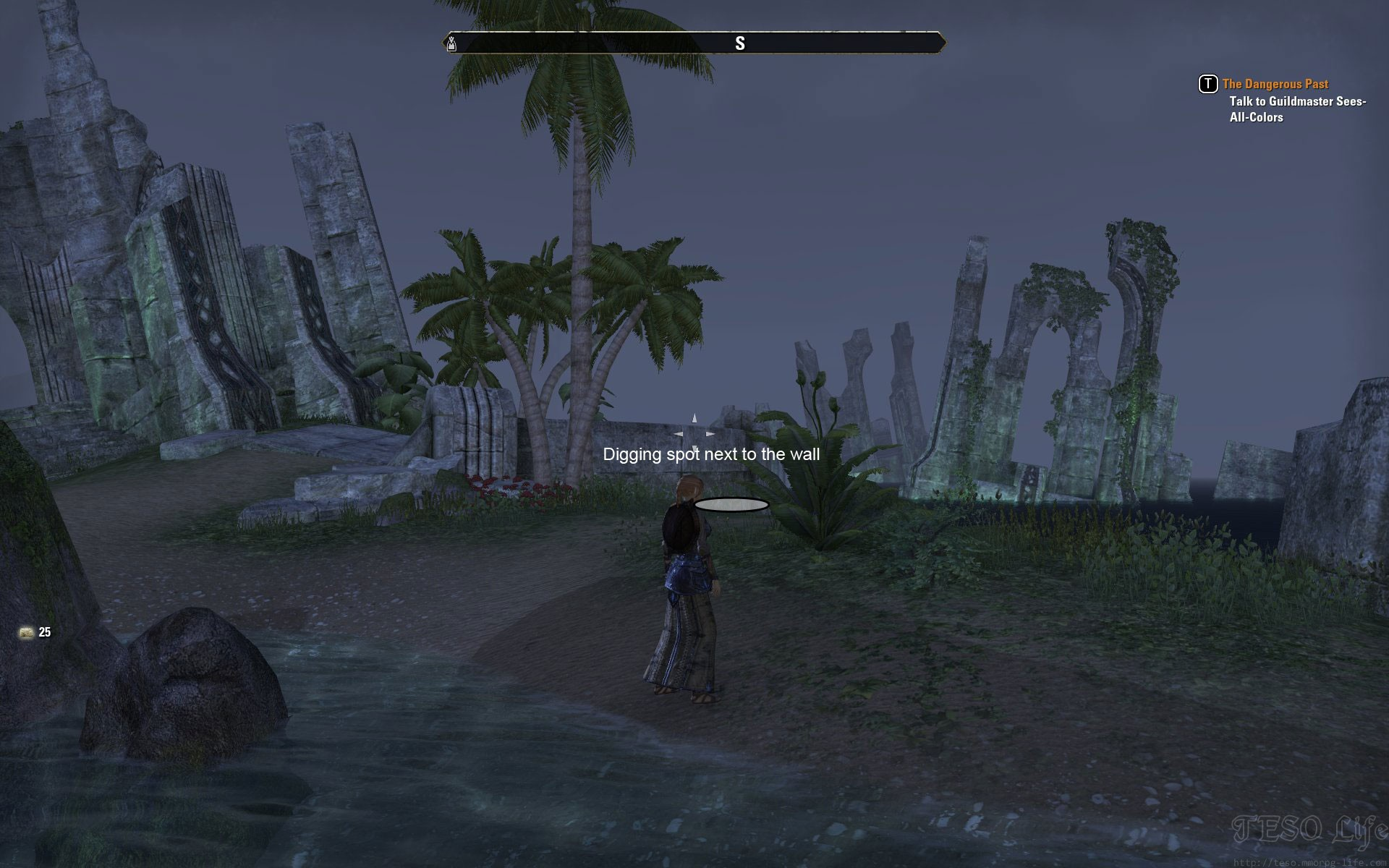 eso Grahtwood CE TreasureMap digging spot