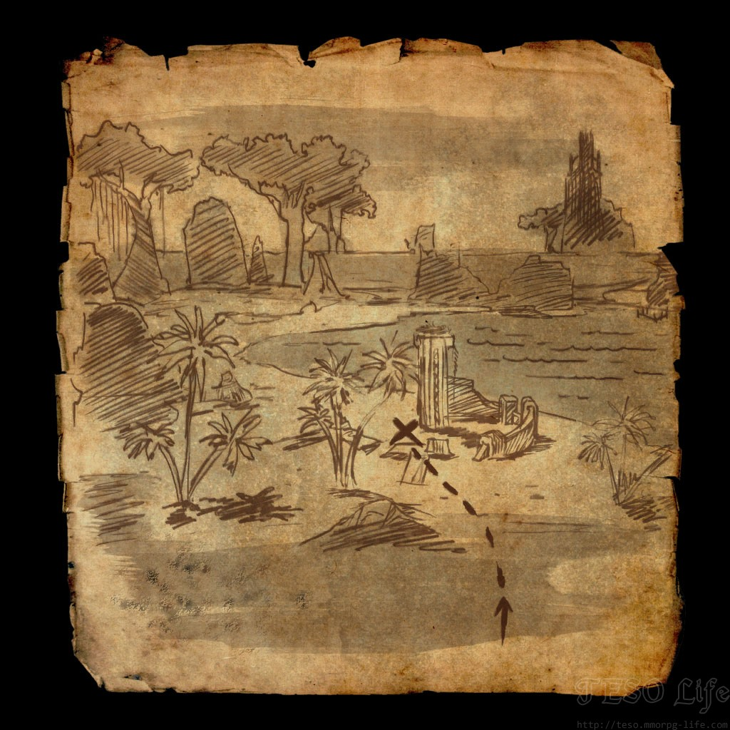 eso Grahtwood Treasure Map I