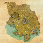 eso Grahtwood TreasureMap V location world