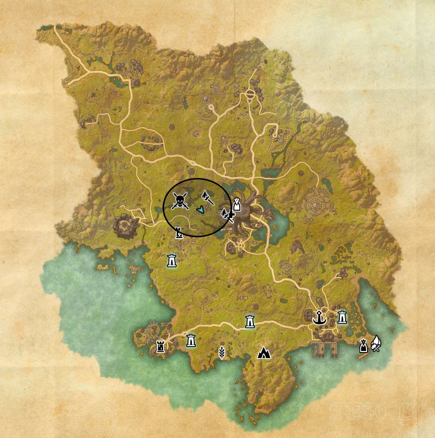 eso Grahtwood TreasureMap VI location world