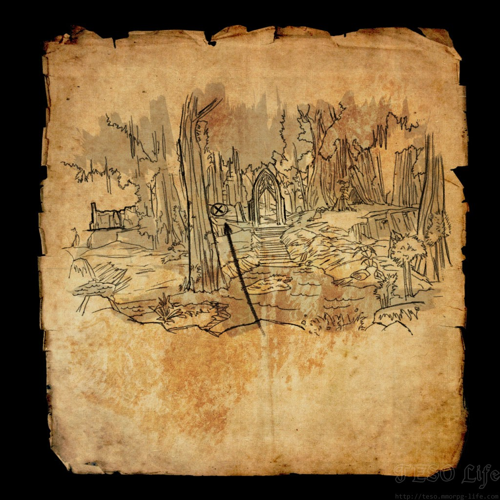 eso Grahtwood Treasure Map VI