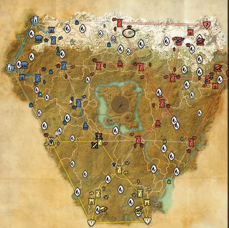 Cyrodiil Treasure Map VII location