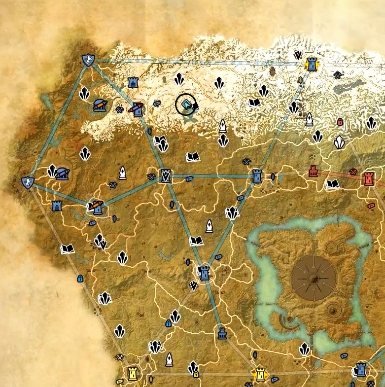 Cyrodiil Treasure Map X location