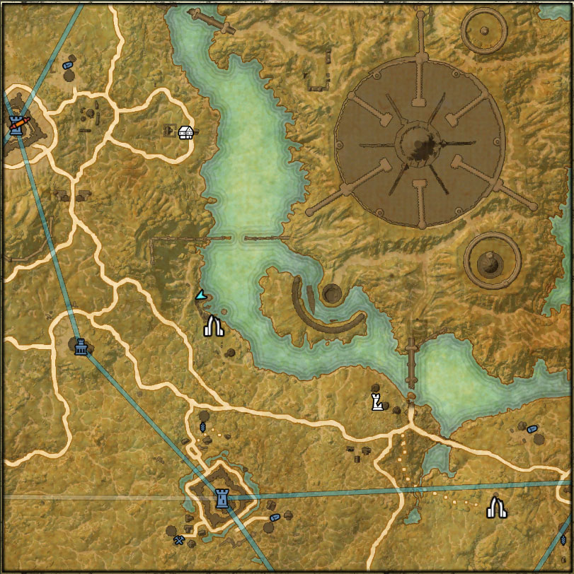 Cyrodiil Treasure I map location