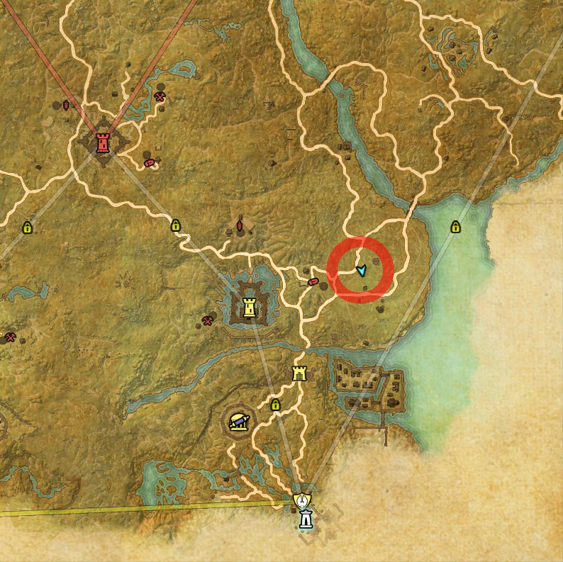 ESO Cyrodiil Treasure Map IV Location