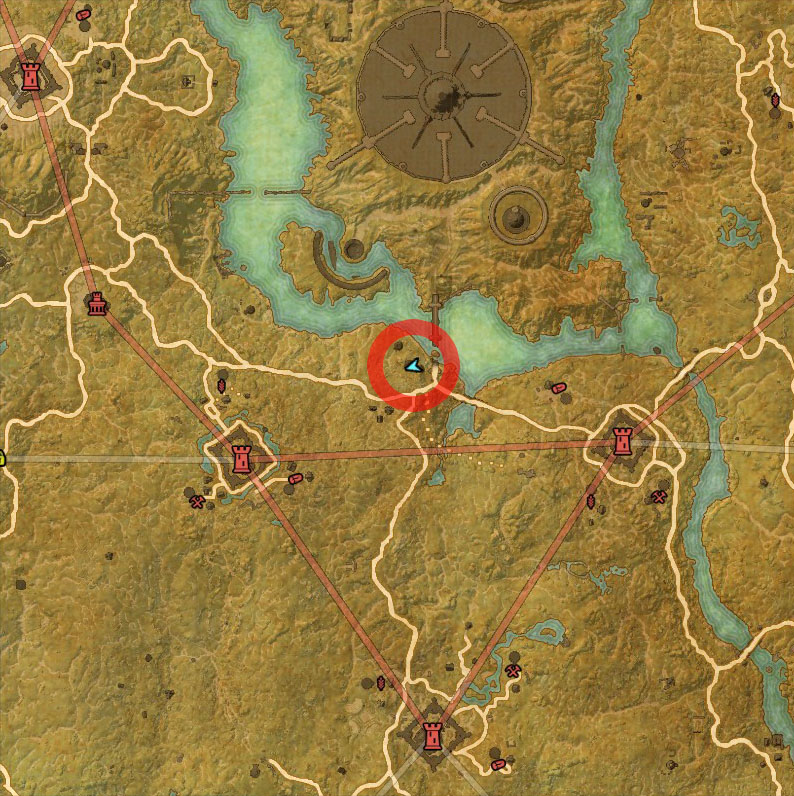 ESO Cyrodiil Treasure Map V Location