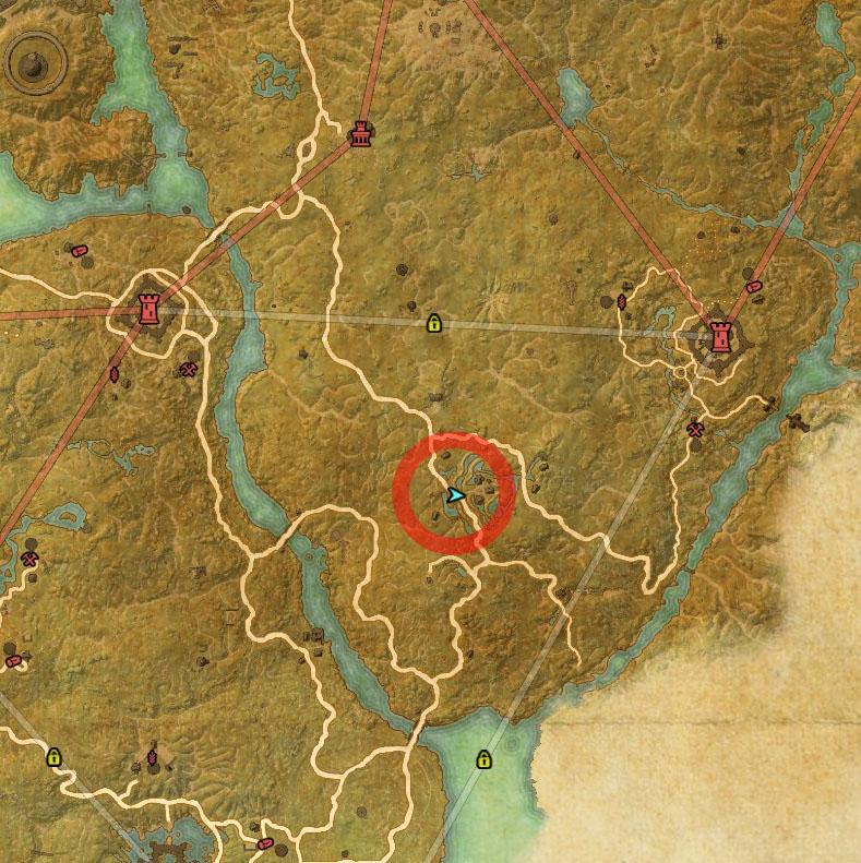 Cyrodiil Treasure Map XVI Location