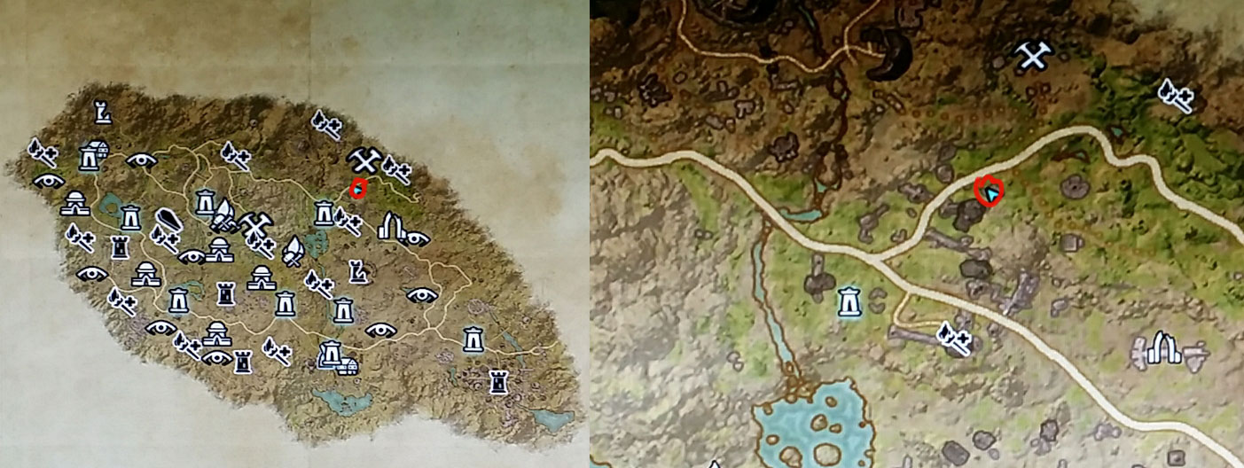 Eso Craglorn Treasure Map