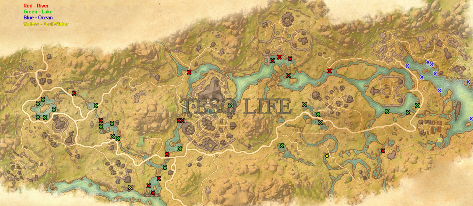 Deshaan Angler achievement fishing locations