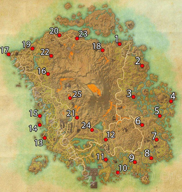 All Daedric Ruins Locations Vvardenfell ESO Morrowind