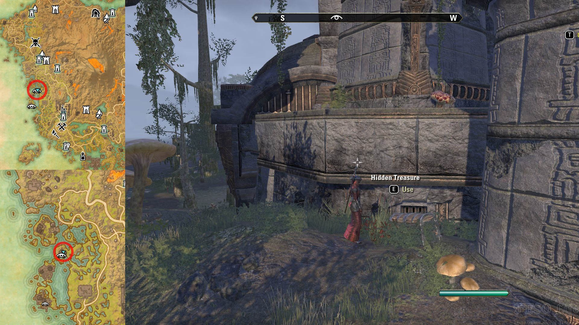 CE Treasure Chest III Dig Spot Location ESO Vvardenfell