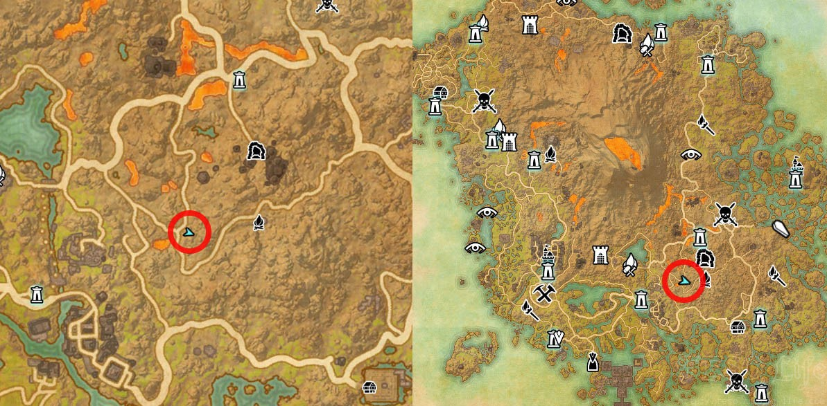 CE Vvardenfell Treasure Map II Dig Map Location ESO Morrowind